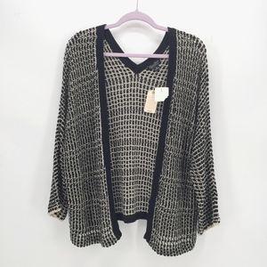 Lucky Brand Open Knit Cardigan